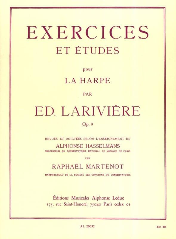 Exercices et Etudes op. 9 pour harpe - laflutedepan.com