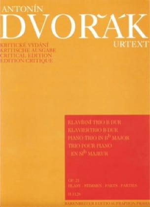 Klaviertrio B-Dur op. 21 -Stimmen - DVORAK - laflutedepan.com