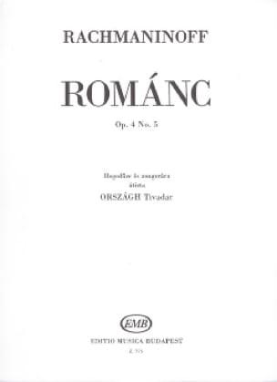 Romance Opus 4 N°5 - RACHMANINOV - Partition - laflutedepan.com