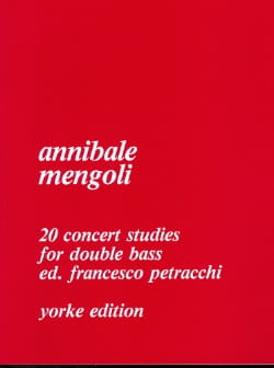 20 Concert Studies for double bass Annibale Mengoli laflutedepan