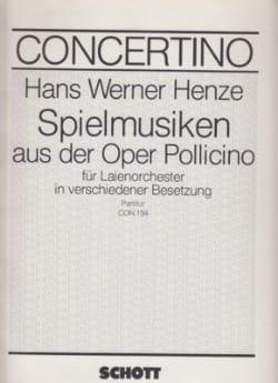 Spielmusik aus der Oper Pollicino Hans Werner Henze laflutedepan
