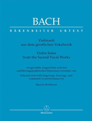 BACH - Violinsoli aus dem geistlichen Vokalwerk - Partition - di-arezzo.co.uk