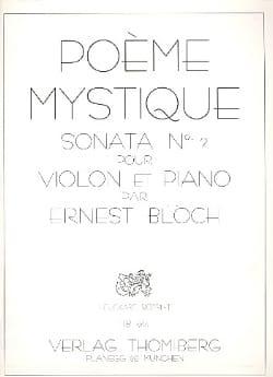 Poème Mystique Sonate n° 2 BLOCH Partition Violon - laflutedepan