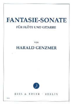 Fantasie-Sonate - Flöte Gitarre Harald Genzmer Partition laflutedepan