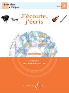 J'écoute, J'écris Volume 4 Sophie Penitzka Partition laflutedepan