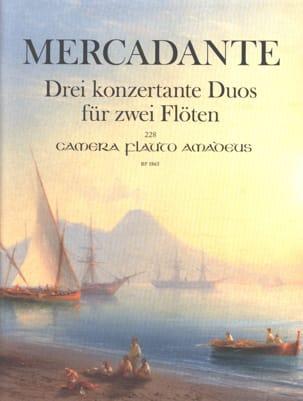 Trois Duos Concertants pour 2 Flûtes Saverio Mercadante laflutedepan