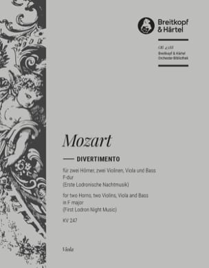 Divertimento in F major K. 247 - MOZART - Partition - laflutedepan.com