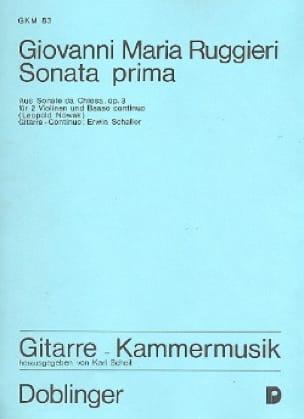 Sonata prima e-moll op. 3 -2 Violinen u. Bc Gitarre - Stimmen - laflutedepan.com