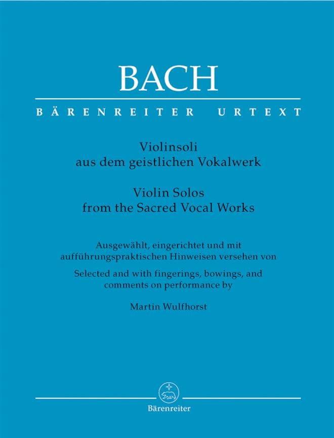 Violinsoli aus dem geistlichen Vokalwerk - BACH - laflutedepan.com