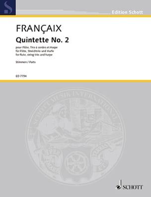 Quintette n° 2 1989 - Parties - Flûte, trio à cordes et harpe laflutedepan