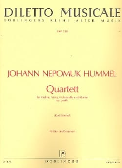 Quartett op. posth. Vl., Vla., Vc. u. Klav. - Stimmen + Partitur - laflutedepan.com