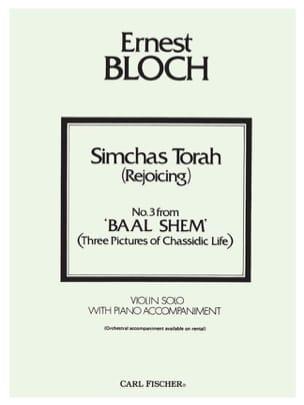 Simchas Torah Rejoicing BLOCH Partition Violon - laflutedepan