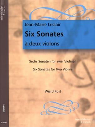6 Sonates à deux violons LECLAIR Partition Violon - laflutedepan