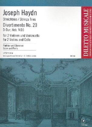 Divertimento Nr. 20 D-Dur Hob. 5 : D3 -Partitur + Stimmen - laflutedepan.com