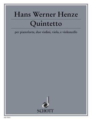 Quintetto 1990/91 Hans Werner Henze Partition laflutedepan
