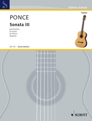 Sonata n° 3 para Guitarra Manuel Maria Ponce Partition laflutedepan