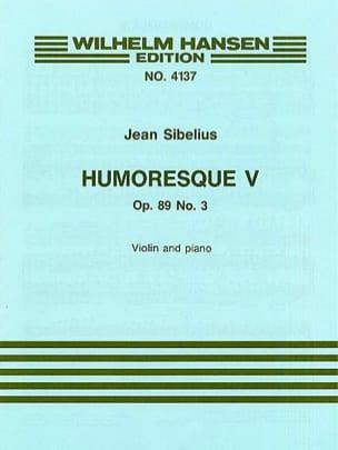 Humoresque 5, op. 89 n° 3 SIBELIUS Partition Violon - laflutedepan