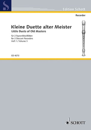 Kleine Duette alter Meister - Heft 1 Partition laflutedepan