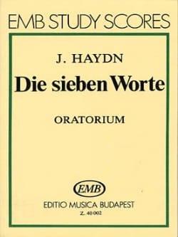 Die sieben Worte - Oratorio . HAYDN Partition laflutedepan