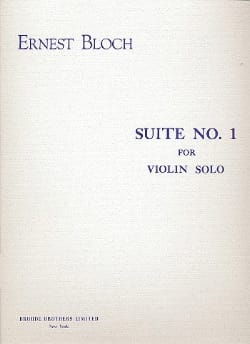 Suite n° 1 - Violin Solo BLOCH Partition Violon - laflutedepan