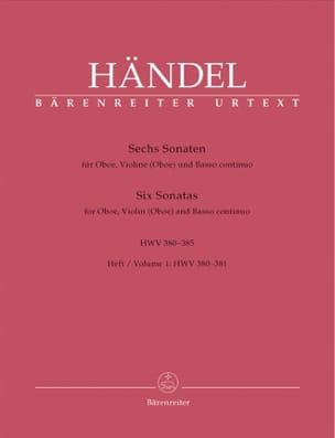 6 Sonaten HWV 380-385 - Heft 1 : 380-381 -Oboe Violine Oboe u. Bc laflutedepan