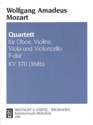 Quartett F-dur KV 370 386b -Oboe Violine Viola Cello laflutedepan