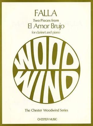 2 Pieces from El Amor Brujo -Clarinet DE FALLA Partition laflutedepan