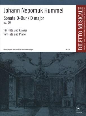 Sonate D-Dur op. 50 - Flöte Klavier HUMMEL Partition laflutedepan