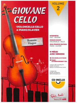 Giovane Cello Volume 2 Romain Hugon Partition laflutedepan