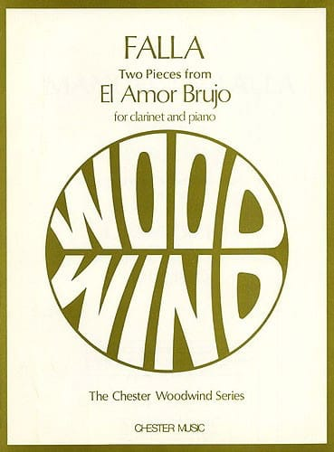 2 Pieces from El Amor Brujo -Clarinet - DE FALLA - laflutedepan.com