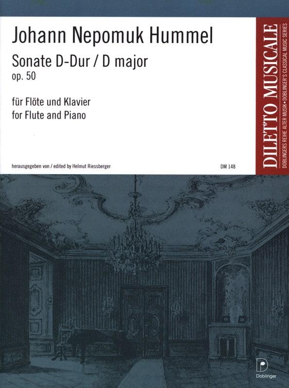Sonate D-Dur op. 50 - Flöte Klavier - HUMMEL - laflutedepan.com