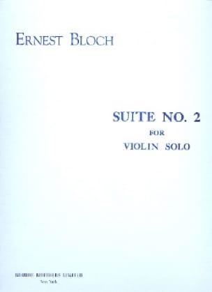 Suite n° 2 - Violin solo - BLOCH - Partition - laflutedepan.com