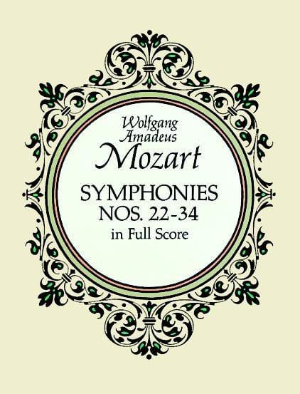 Symphonies N° 22-34 - Full Score - MOZART - laflutedepan.com