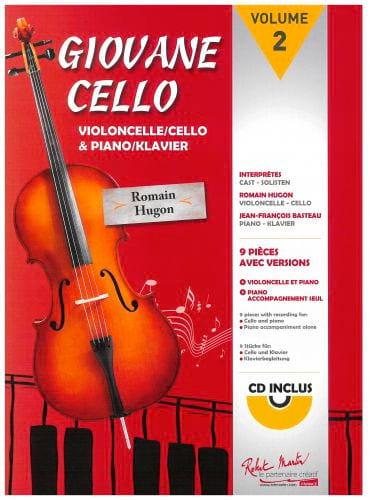 Giovane Cello Volume 2 - Romain Hugon - Partition - laflutedepan.com