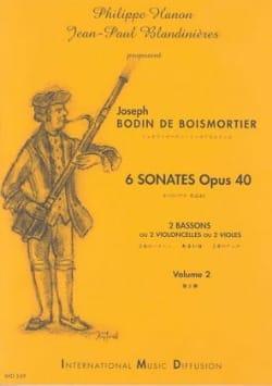 6 Sonates Opus 40 Volume 2 BOISMORTIER Partition Basson - laflutedepan