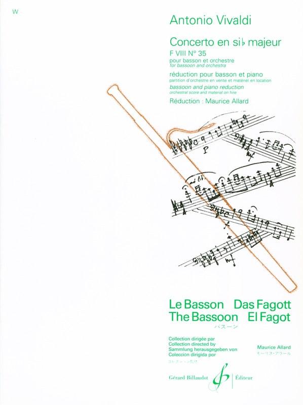 Concerto F. 8 n° 35 en sib majeur - VIVALDI - laflutedepan.com
