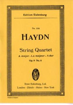 Streich-Quartett A-Dur op. 9 n° 6 - HAYDN - laflutedepan.com