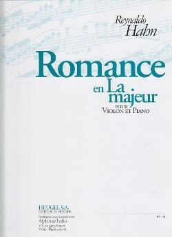 Romance en la Majeur Reynaldo Hahn Partition Violon - laflutedepan