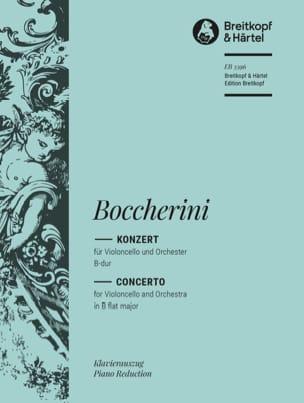 BOCCHERINI - Concerto for Cello - Cello and Piano - Partition - di-arezzo.co.uk