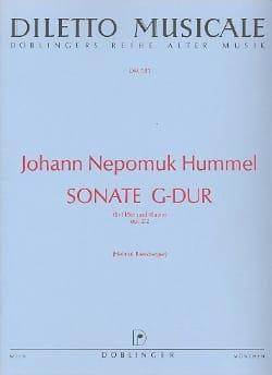Sonate G-Dur op. 2 Nr. 2 - Flöte Klavier HUMMEL Partition laflutedepan