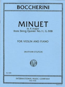 Minuet in A maj. - Violin - BOCCHERINI - Partition - laflutedepan.com