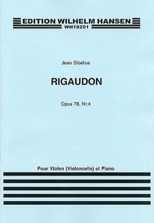 Rigaudon op. 78 n° 4 SIBELIUS Partition Violon - laflutedepan
