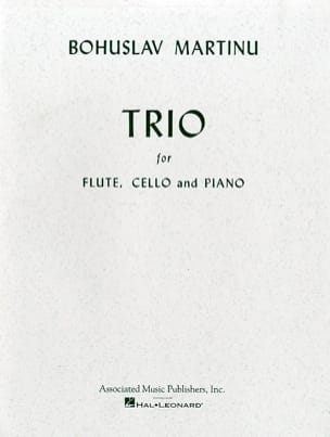 Trio - Flute, cello and piano MARTINU Partition Trios - laflutedepan