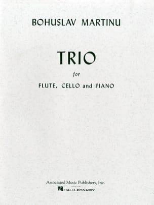 Trio -Flute, cello and piano MARTINU Partition Trios - laflutedepan