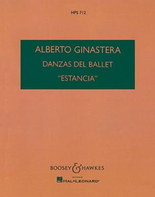Danzas del ballet Estancia - Score GINASTERA Partition laflutedepan