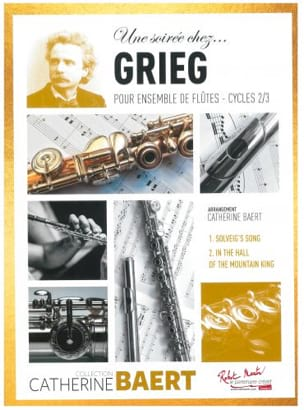 Une soirée chez.. Grieg - GRIEG - Partition - laflutedepan.com