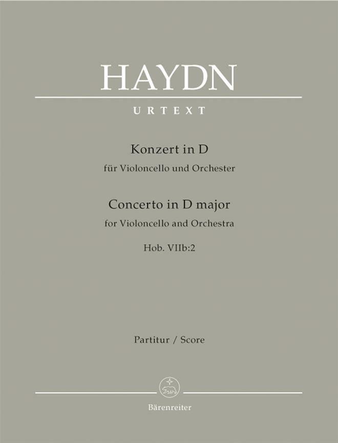 Violoncello-Konzert D-Dur Hob 7b:2 - Partitur - laflutedepan.com