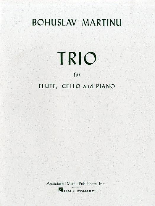 Trio -Flute, cello and piano - MARTINU - Partition - laflutedepan.com