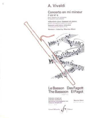 Concerto F. 8 n° 6 en mi mineur VIVALDI Partition laflutedepan