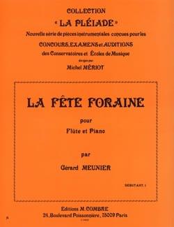La fête foraine Gérard Meunier Partition laflutedepan